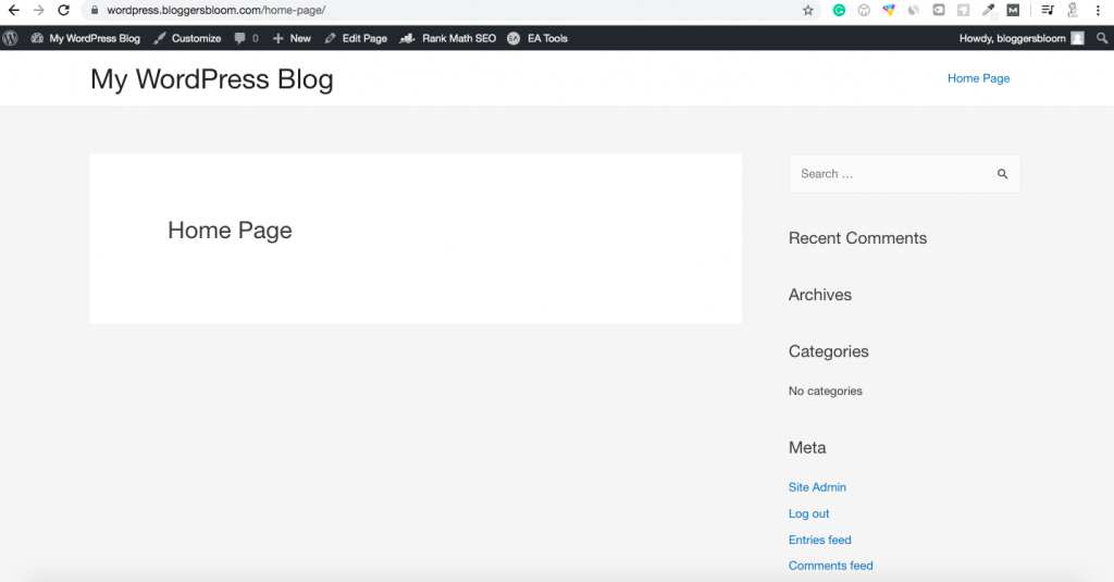 How to create a home page in WordPress from scratch