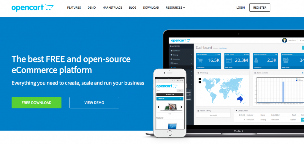 How to start an online store using opencart