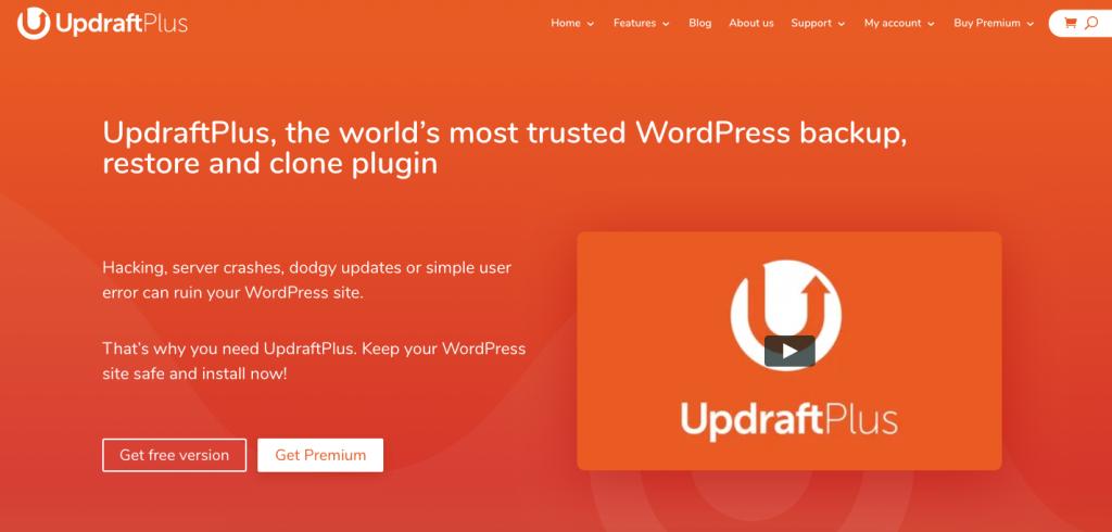 WordPress Plugin Updraft Backup
