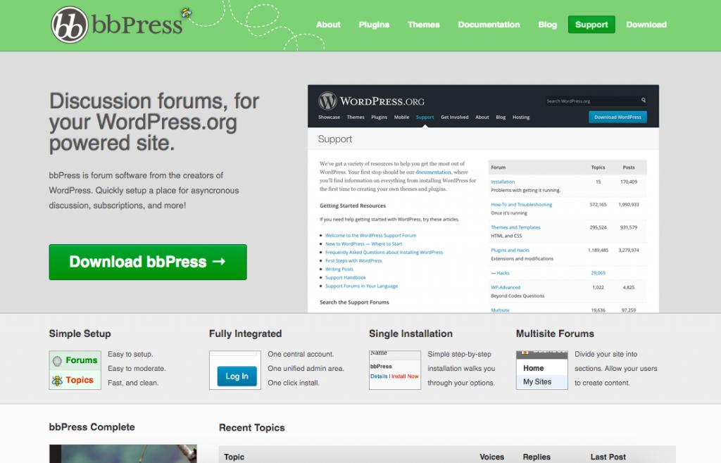 WordPress Plugins bbPress