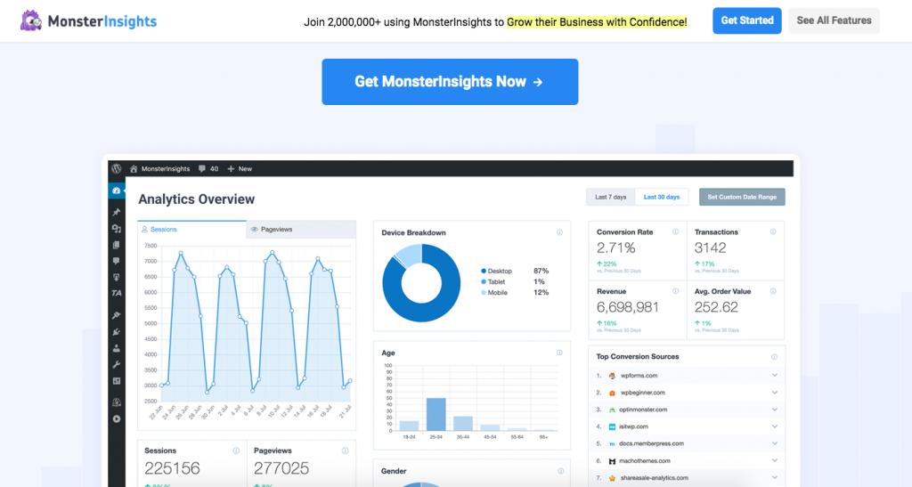 WordPress Plugins Monster Analytics