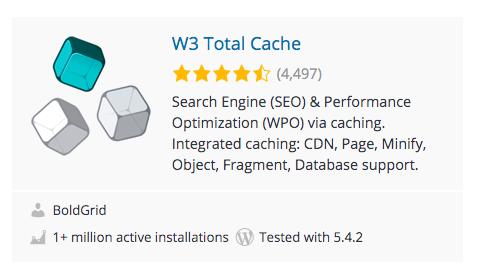 WordPress Plugins: W3 Total Cache