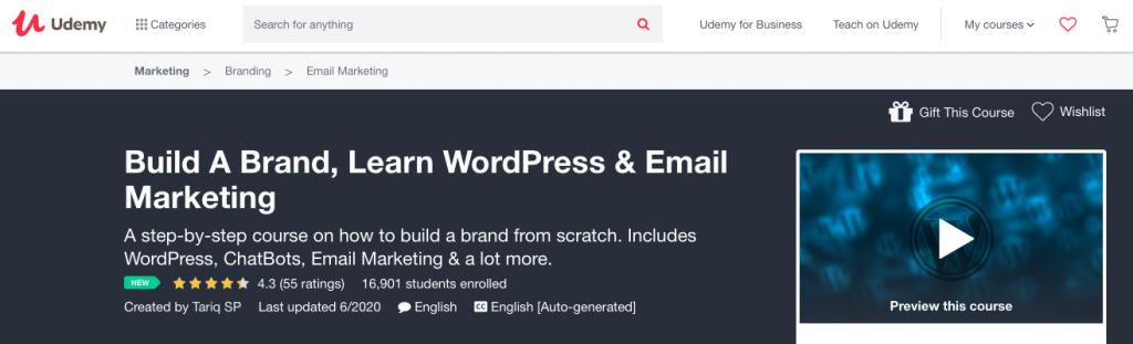 Build A Brand, Learn WordPress