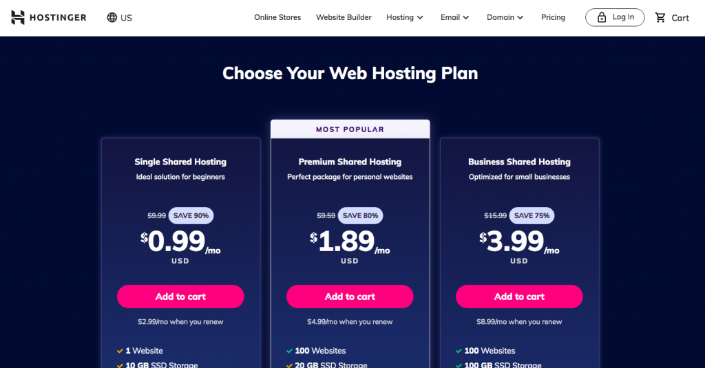 Domain and Hosting Hostinger