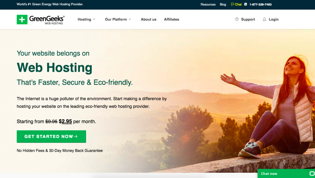 Domain and Hosting Green Geeks