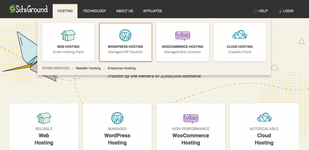 Create a blog in wordpress Siteground hosting