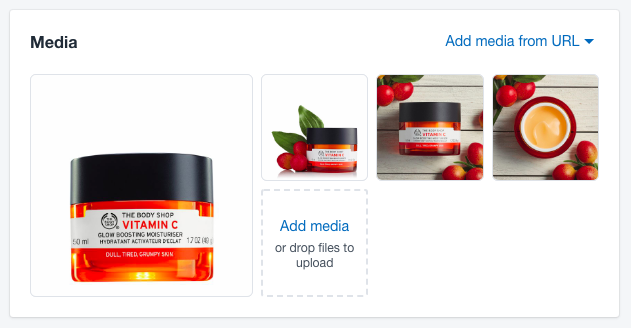 Add images to your product page