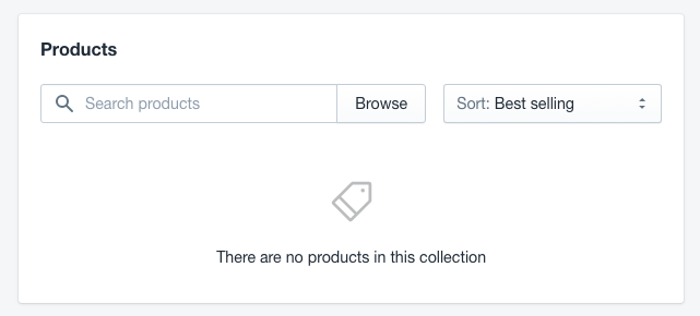 Select products to be added in Collections
