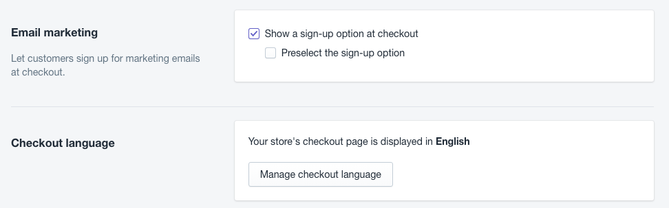 Shopify checkout payments