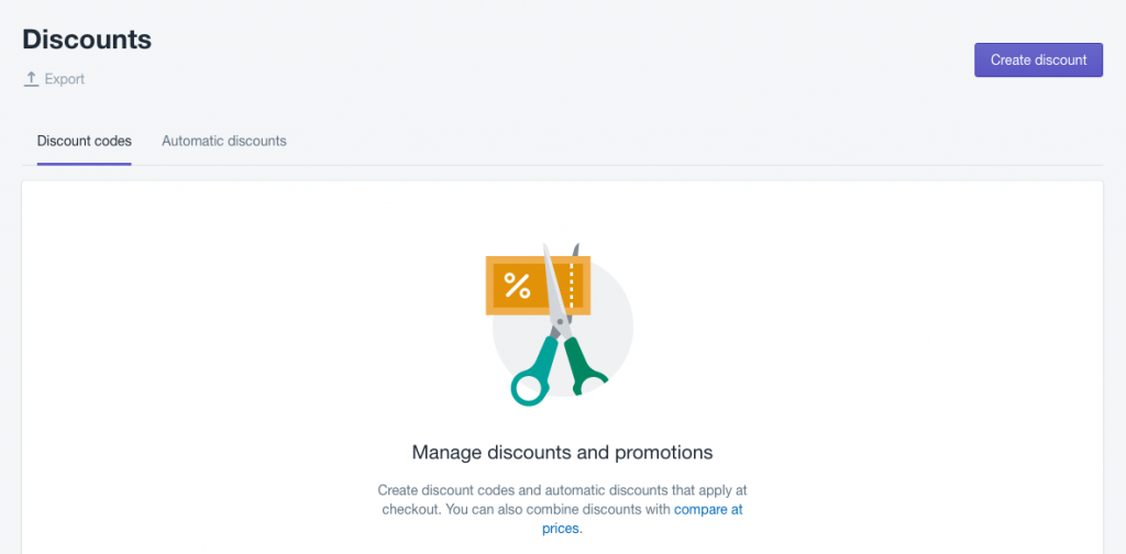 Offer discounts on Shopify