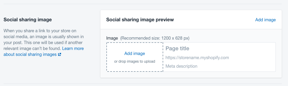 Add social share to shopify