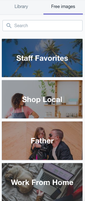 Stock images in Shopify